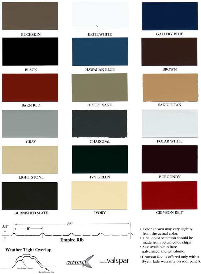 Roofing Color Options
